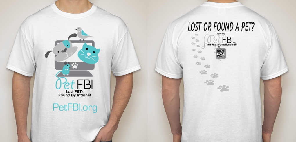 Pet FBI t-shirt front and back